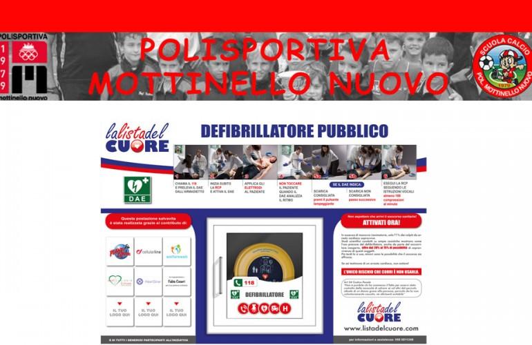 Postazione DAE Polisportiva Mottinello Nuovo