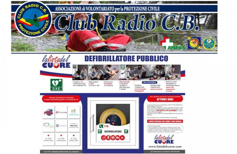 """POSTAZIONE DAE – Associazione di volontariato """"Club Radio C.B."""""""