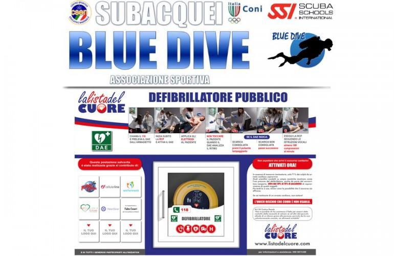 Postazione DAE – A.S.D. BLUE DIVE di Taranto