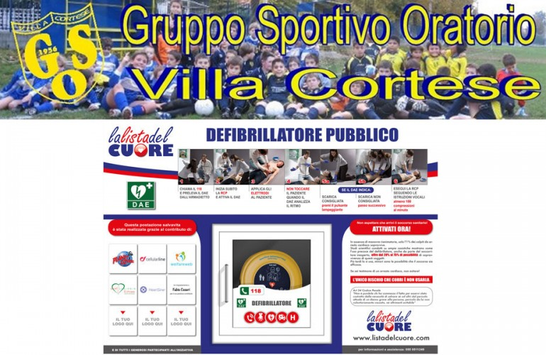 Postazione DAE – GSO Oratorio Villa Cortese